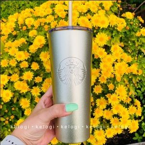 Starbucks Other - ✨LAST ONE✨Starbucks Gold Glitter Sparkle Tumbler